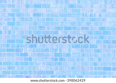 old vintage blue brick wall texture background