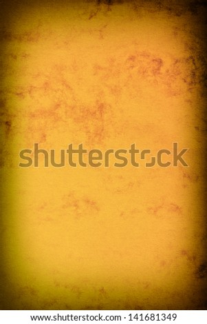 Old vintage brown page paper texture or background with vignette - stock photo