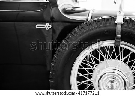 old vintage car - stock photo