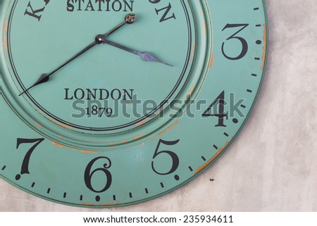 old vintage clock face - stock photo