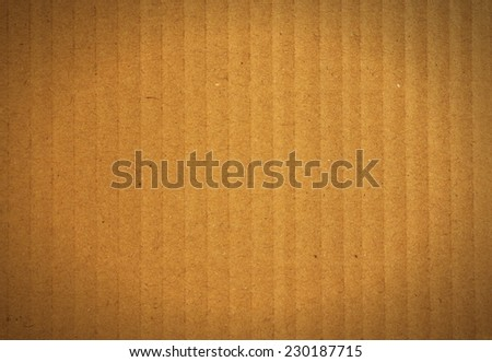 Old vintage corrugated paper texture or background  - stock photo
