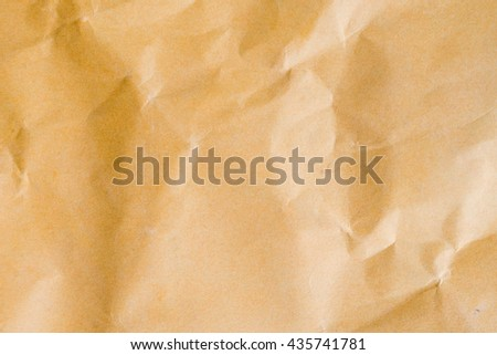 Old vintage crumpled brown paper texture for background