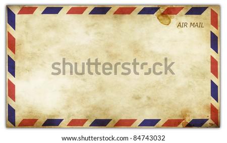 Old vintage envelope front side - stock photo