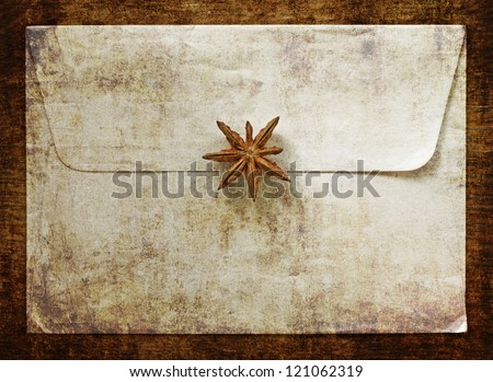 Old vintage envelope with grunge texture - stock photo