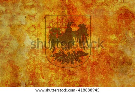 old vintage flag of one of administrative divisions of argentina called city of buenos aires - stock photo