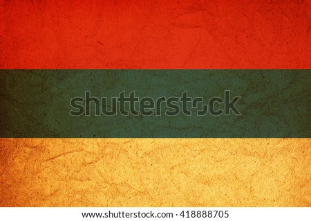 old vintage flag of one of administrative divisions of argentina called misiones - stock photo