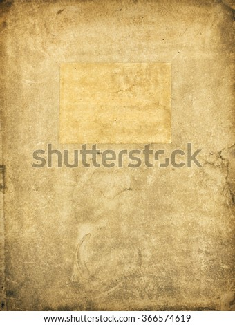 Old vintage folder for papers - stock photo