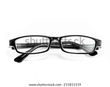 old vintage glasses isolated over white background