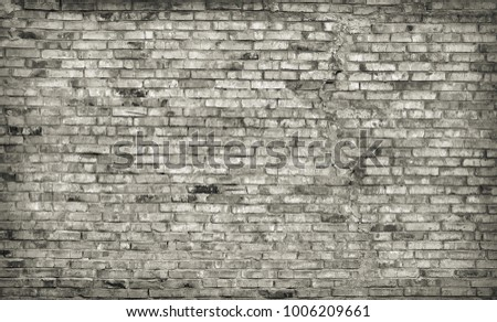 Old vintage grey brick wall texture
