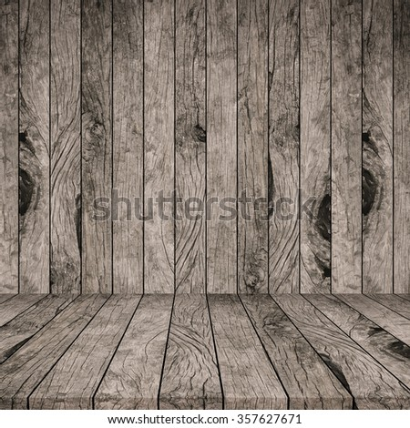 old vintage grungy beige brown wood panels tiles background texture with tabletop:grunge aged retro wooden backdrop perspective.advertising/show product on display picture.image with instagram filter. - stock photo
