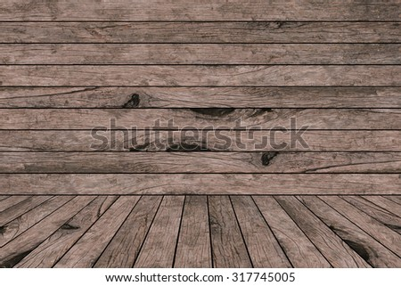 old vintage grungy red brown wood backgrounds textures with tabletop : grunge aged  wooden backgrounds with wood paving.put and show your products on this display.image with instagram filter. - stock photo