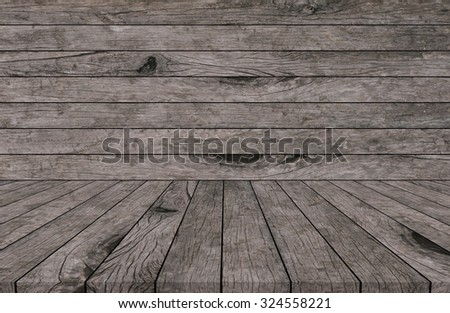 old vintage grungy red brown wood backgrounds textures with tabletop : grunge aged wooden backgrounds with wood paving.put and show your products on this display.image with film effect tone. - stock photo