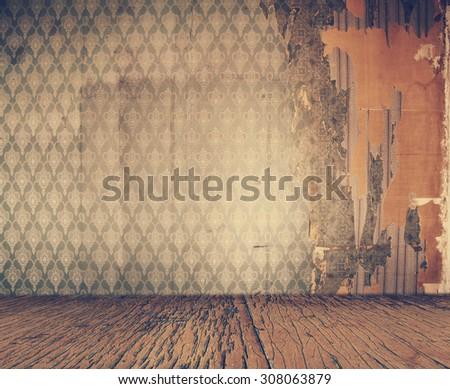 old vintage interior, retro filtered, instagram style - stock photo