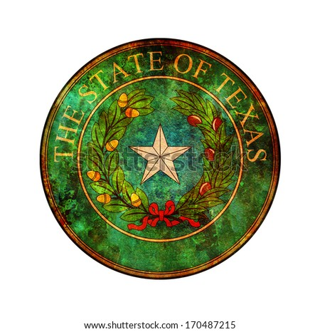 old vintage isolated over white symbol of texas - stock photo