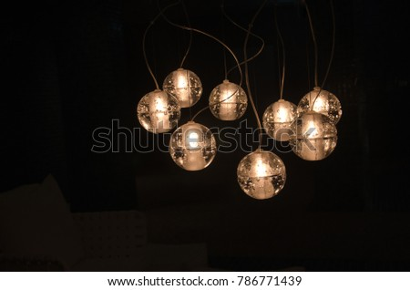 Old, vintage light bulbs for interior decoration.
