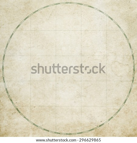Old vintage map, blank - stock photo