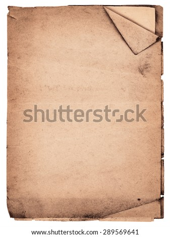 Old vintage notebook isolated on white background - stock photo