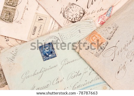 old vintage personal handwritten letters