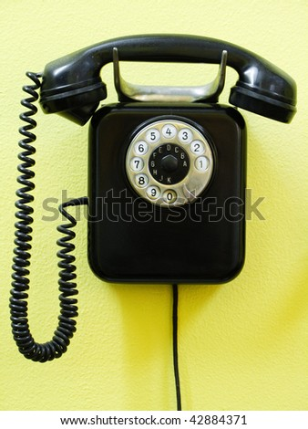 Old vintage phone - stock photo