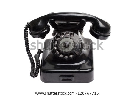 Old vintage phone isolated