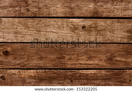 Old vintage planked wood board - stock photo