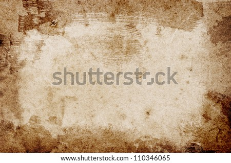 Old vintage retro grungy stained paper background - stock photo
