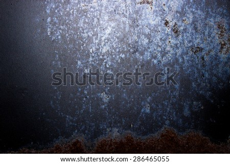 old/vintage/retro metal/steel with rust pattern,texture,background,backdrop,material - stock photo