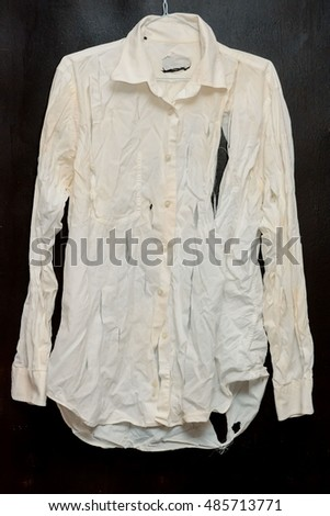 Old Vintage Ruined Grunge White Shirt Clothes