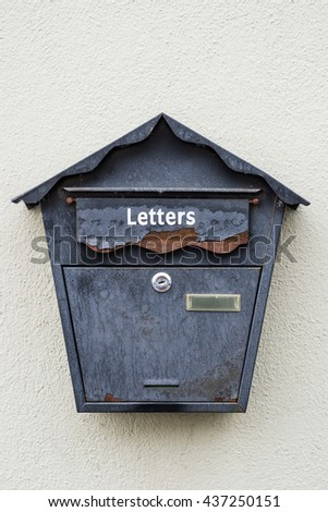 old vintage rusty letterbox