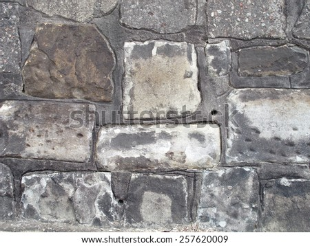 Old Vintage Sandstone Wall 1 - stock photo