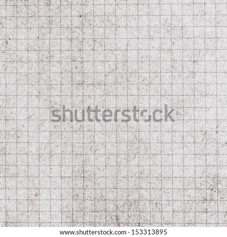 Old vintage square   discolored dirty graph Recycled paper with natural fiber parts. Lined recycled paper background. - stock photo