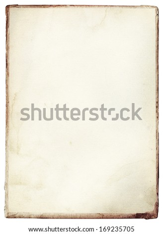 Old, vintage stained book cover - stock photo