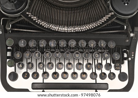 old vintage typewriter - stock photo