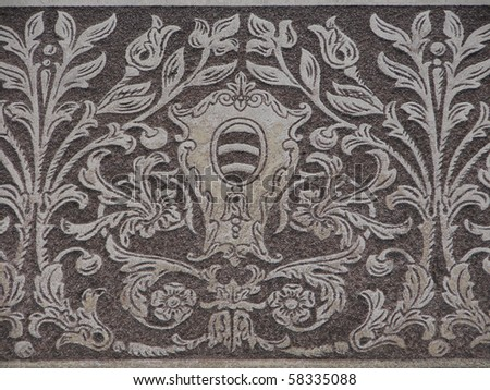 old vintage wall in baroque style - stock photo