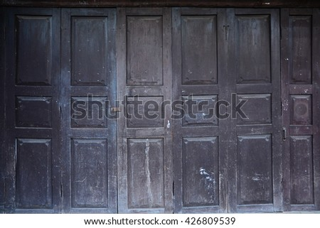 old vintage wood door texture background