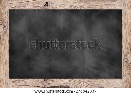 old vintage wooden frame chalk board background textures ,blackboard concept - stock photo