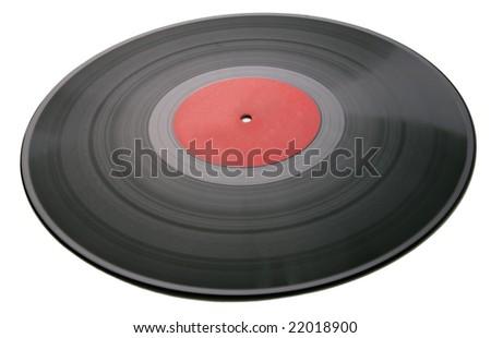 old vinyl record LP - stock photo