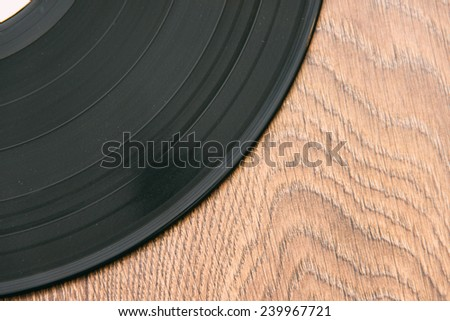Old vinyl records on the floor