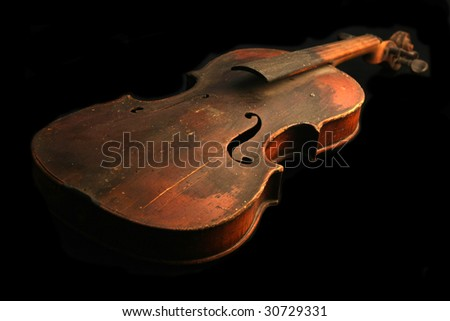 Old violin - stock photo