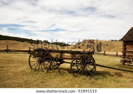 Old wagon - stock photo