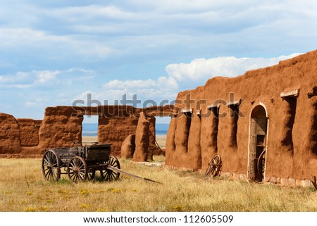 Old Wagon at Fort Union National Monument - stock photo