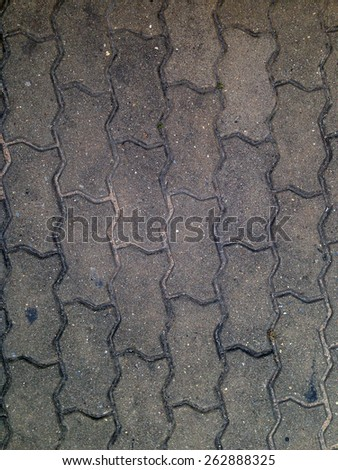 Old Walk side street floor tiles, Background - stock photo