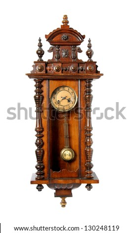 Old wall clock - stock photo