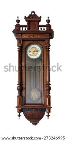 Old wall clock  - stock photo