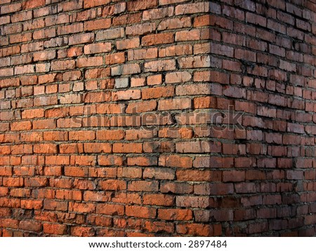 Old wall Corner - stock photo