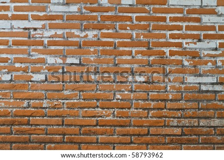 Old Wall from a red brick as a Background