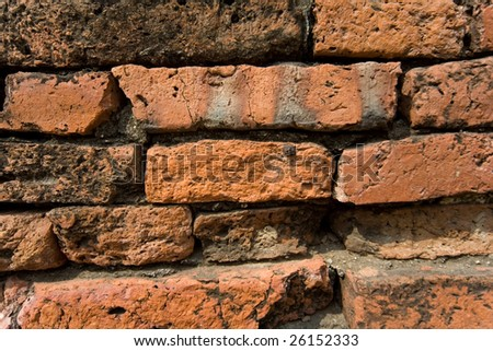 Old wall from red brick