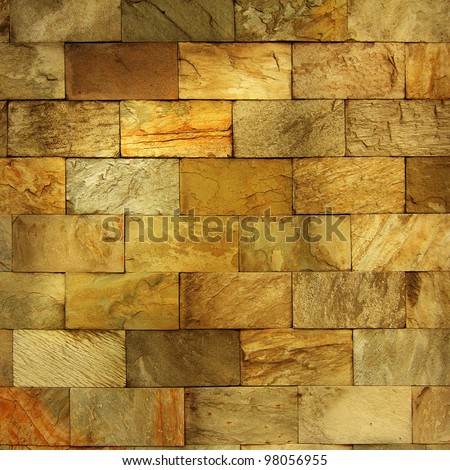 Old wall made of the Jerusalem stone - stock photo
