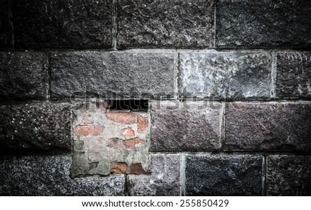 Old wall of brick. Background. - stock photo
