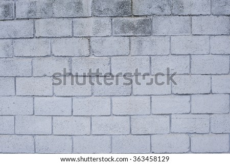 Old wall of cinder block